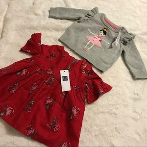 BABY GAP , TWO PIECE TOP, 0-3 MONTHS.